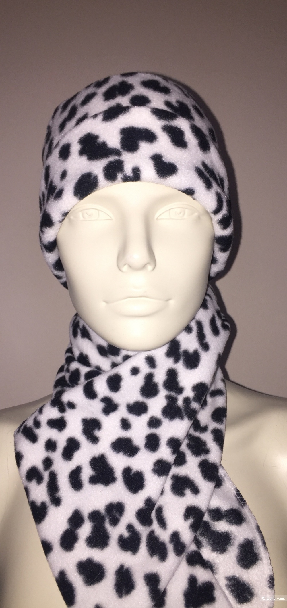 Комплект no name: шапка, шарф, перчатки размер 56