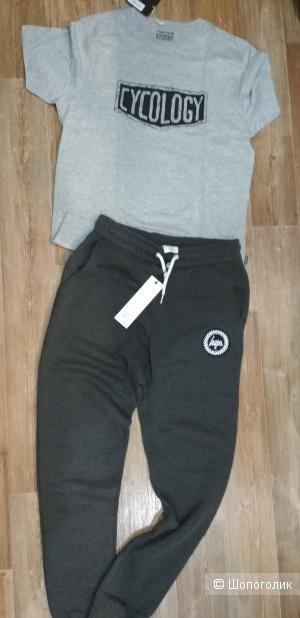 Сет штаны hype + футболка cycology размер S/M