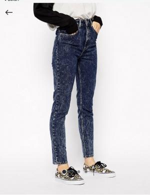 Джинсы в винтажном стиле ASOS Farleigh, размер 26