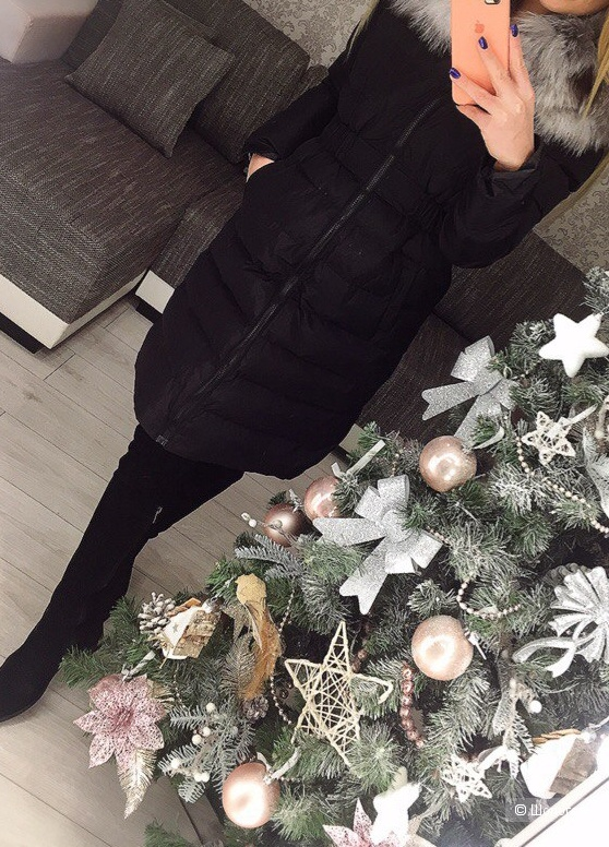 Зимняя куртка миди, no name,  размер 42 росс.
