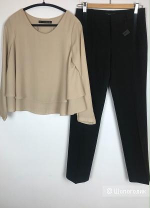 Брюки Stefanel 44, блуза Zara 44