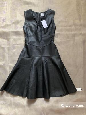 Кожаное платье IRIS & INK uk8-us4