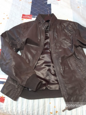 Кожаная куртка ZARA MAN, размер 46