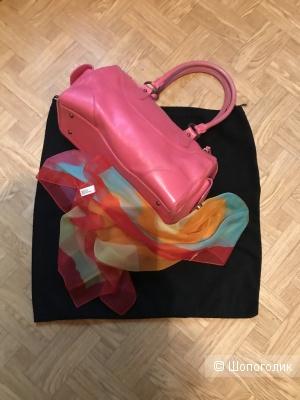 Комплект сумка кожаная Matras и шарф No Name,one size
