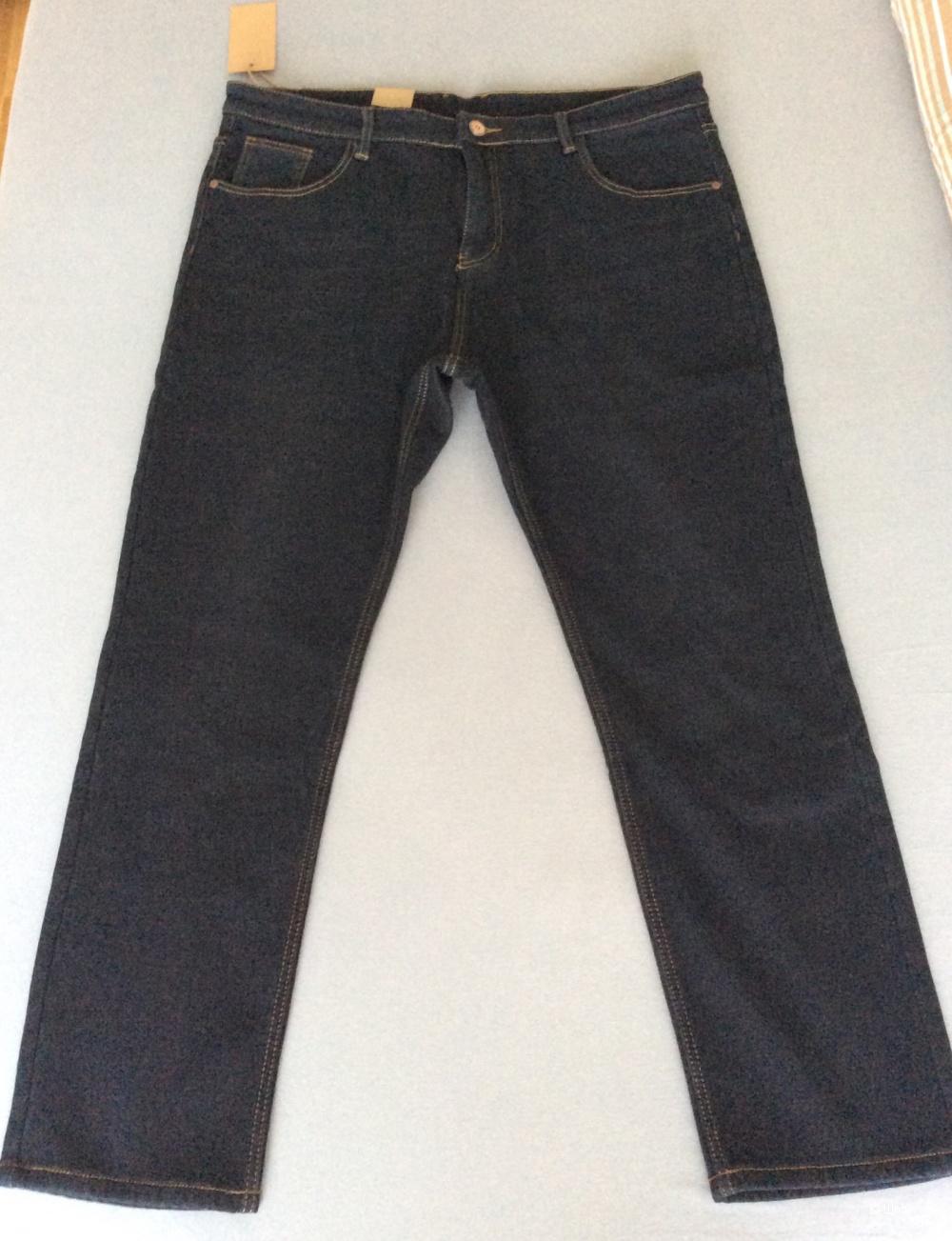 Утеплённые мужские джинсы р.40 (на 54-56)
