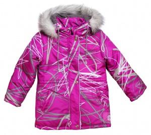 Куртка зимняя для девочки Модные ангелочки, размер 122-128