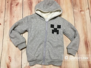 Детская толстовка на меху Minecraft, размер 120