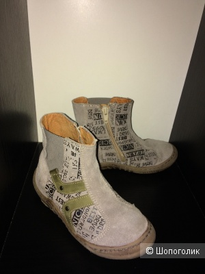 Замшевые ботинки Vertbaudet 28 разм.