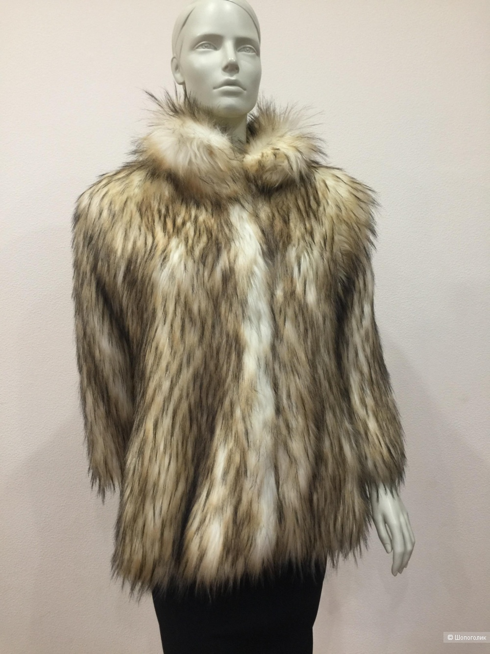 Шуба/жилет из эко-меха бренд Fashion размер S M