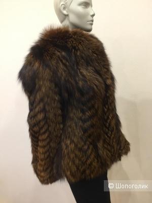 Шуба из чернобурой лисы Зверохозяйство Вятка размер ru 48 L