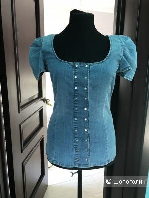 Джинсовая блузка Elisabetta Franchi  (Celyn b) it 42 на 42-44