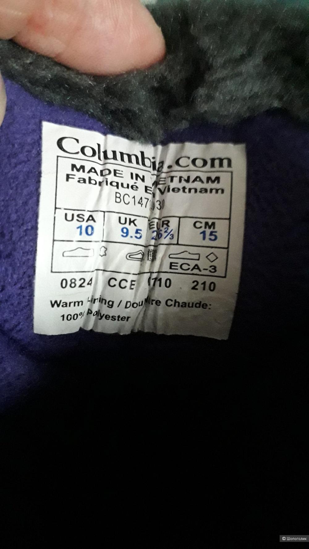 Зимние полусапожки  Columbia размер 27