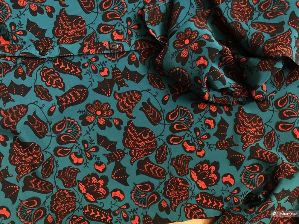 Шелковая рубашка, размер 6