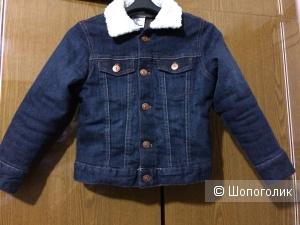 Джинсовая детская куртка H&M разм.4-3 г.