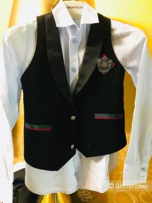 Комплект жилетка + рубашка  choupette - НА 134 см