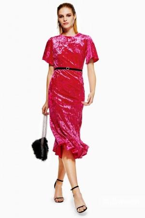 Бархатное платье TopShop евро 36