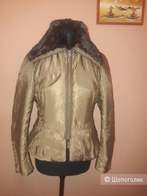 Куртка Pinko с мехом кролика 46 итальянского размера