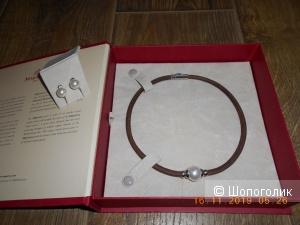 Комплект : серьги и чокер-ожерелье  Majorica, Испания