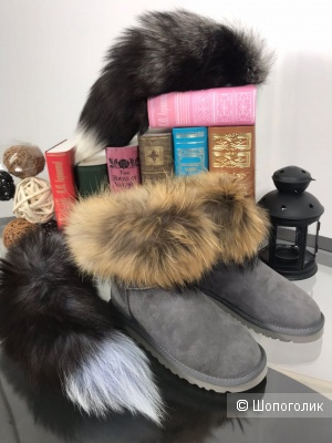 Угги UGG FOX FUR MINI BOOT, 36-40