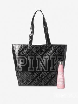 Сет сумка-шоппер и бутылка для воды Victoria's Secret Pink