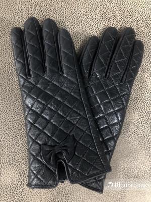 Кожаные перчатки, размер 6,5-7.