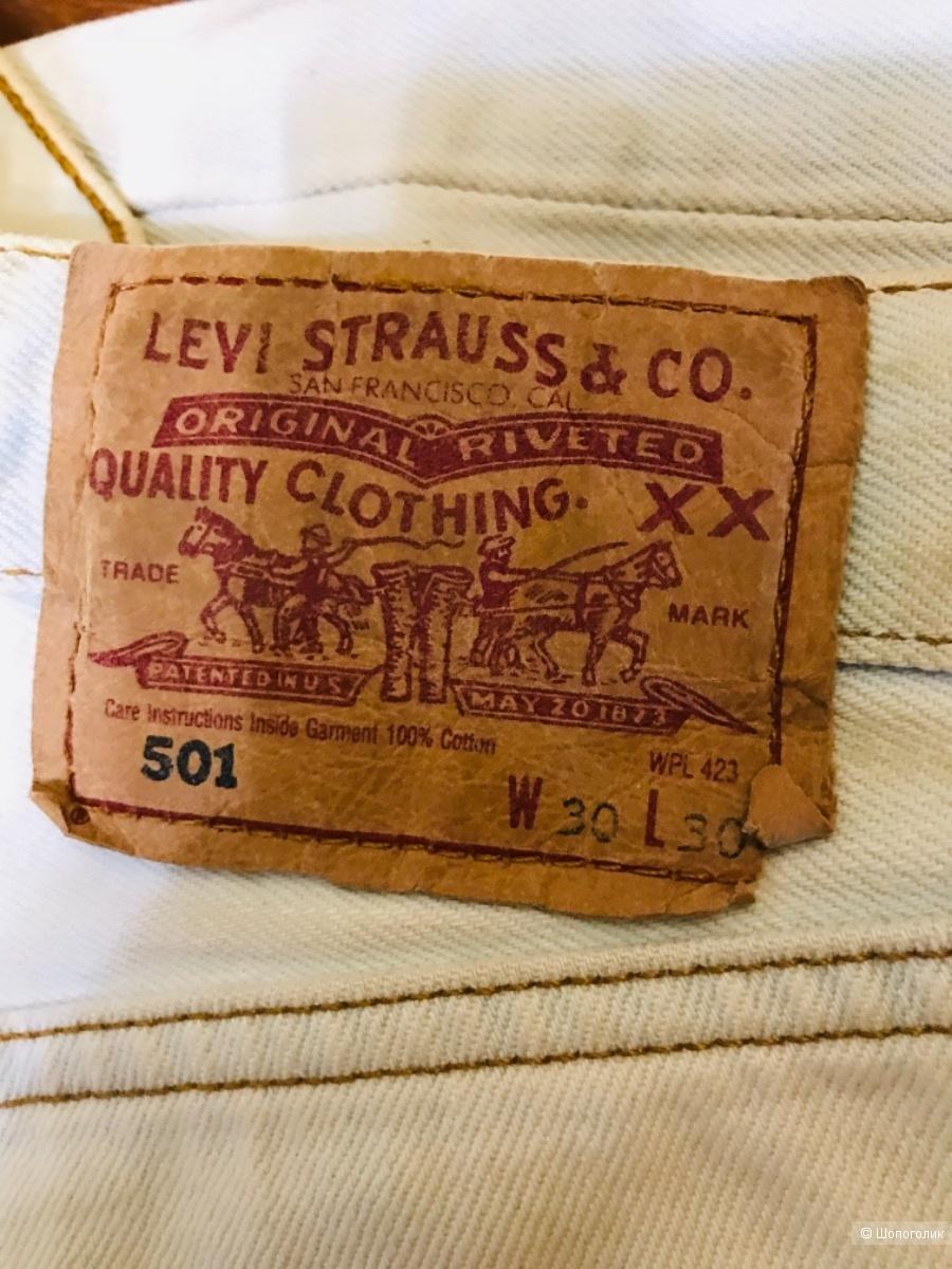 Джинсы бледно голубые Levis 501- размер 44