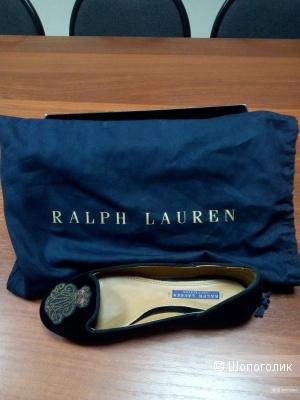 Ralph Lauren велюровые балетки 36-36,5 р