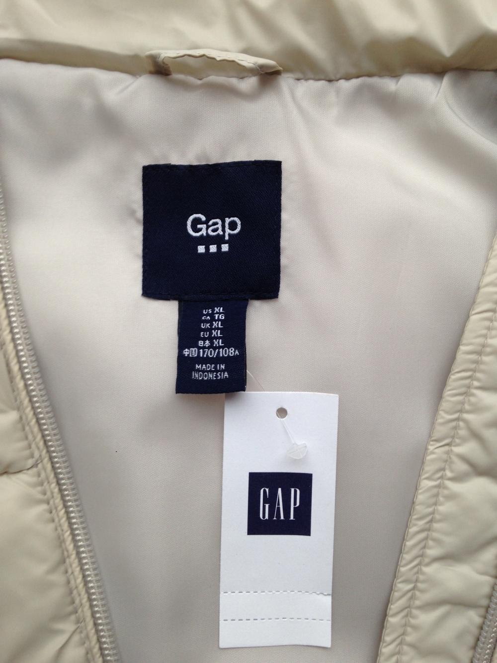 """Утеплённый жилет """" Gap"""", XL размер"""