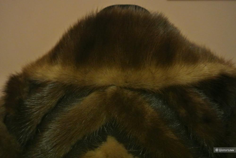 Полушубок норка с кожей No name 46-48 размера