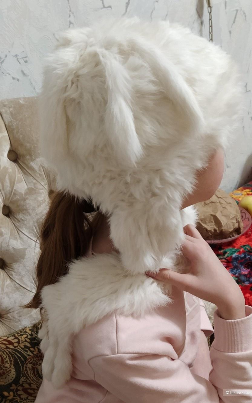 Шапка из кролика,one size.