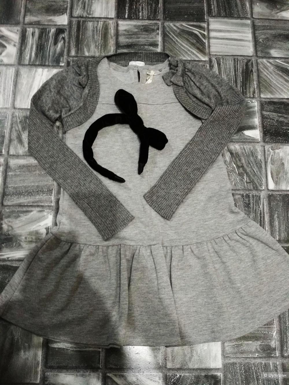 Сет платье next +болеро artigli +ободок reserved размер 6-7 лет