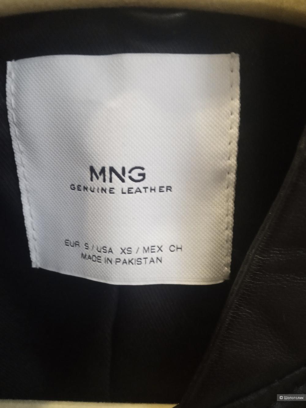 Кожаная куртка Mango р-р S