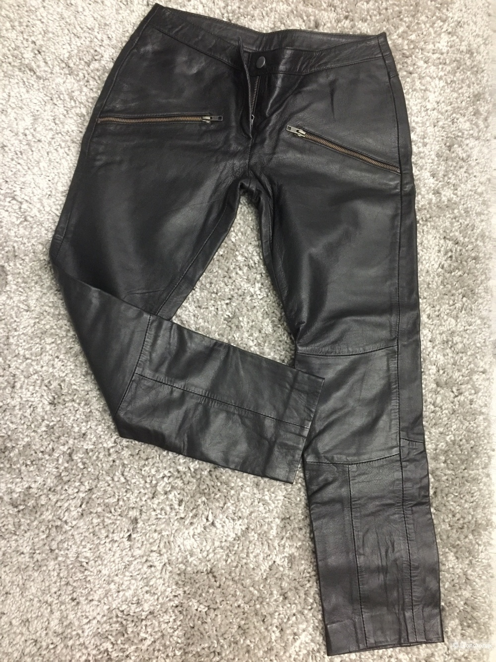 Кожаные брюки, VILA, р. M