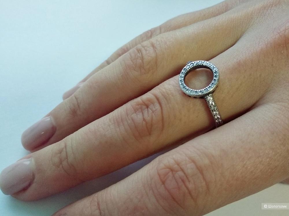 Кольцо «Круг сияния», Pandora, серебро 925, р.17-18