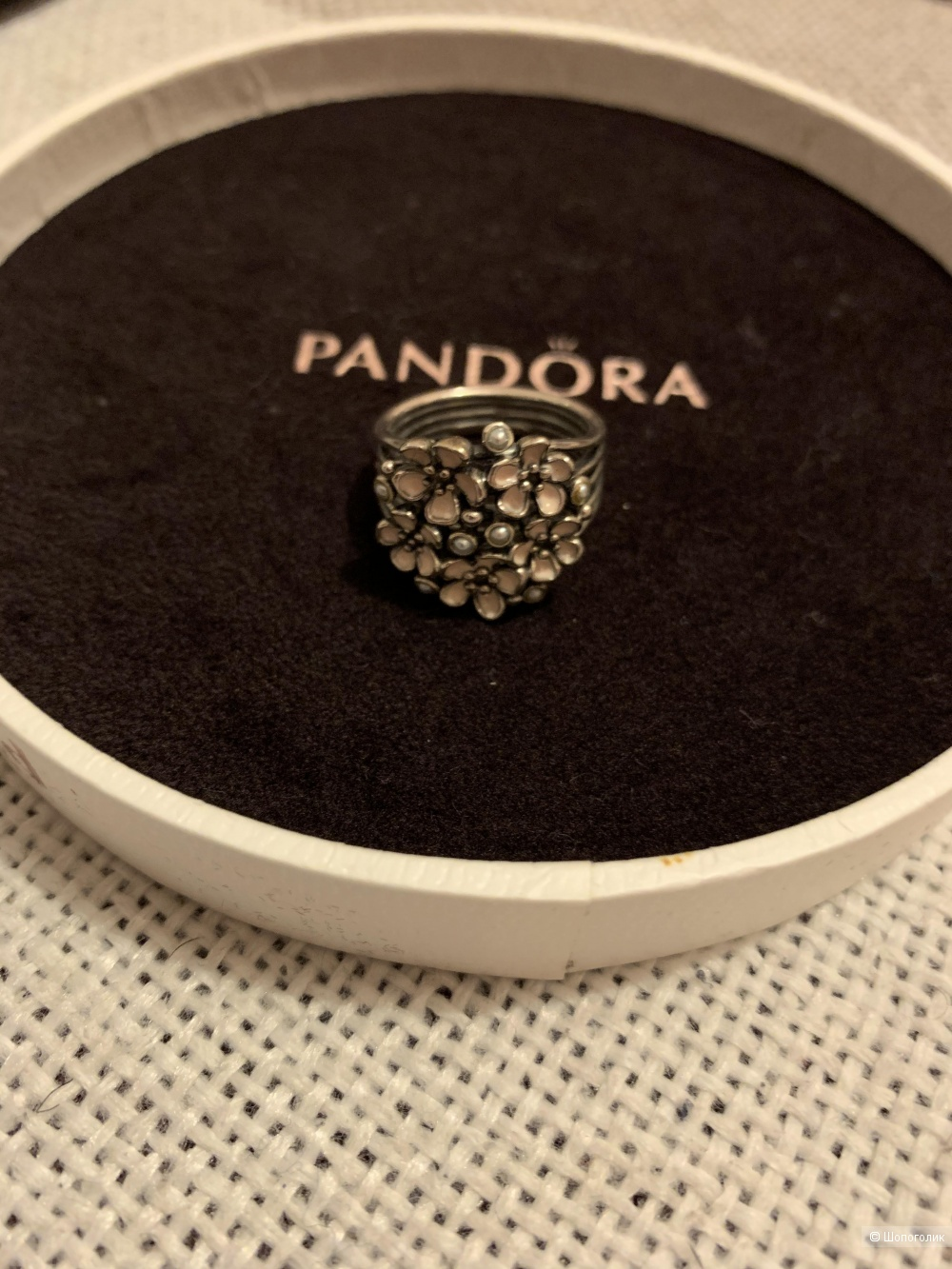 Кольцо Pandora, 17,5 размер