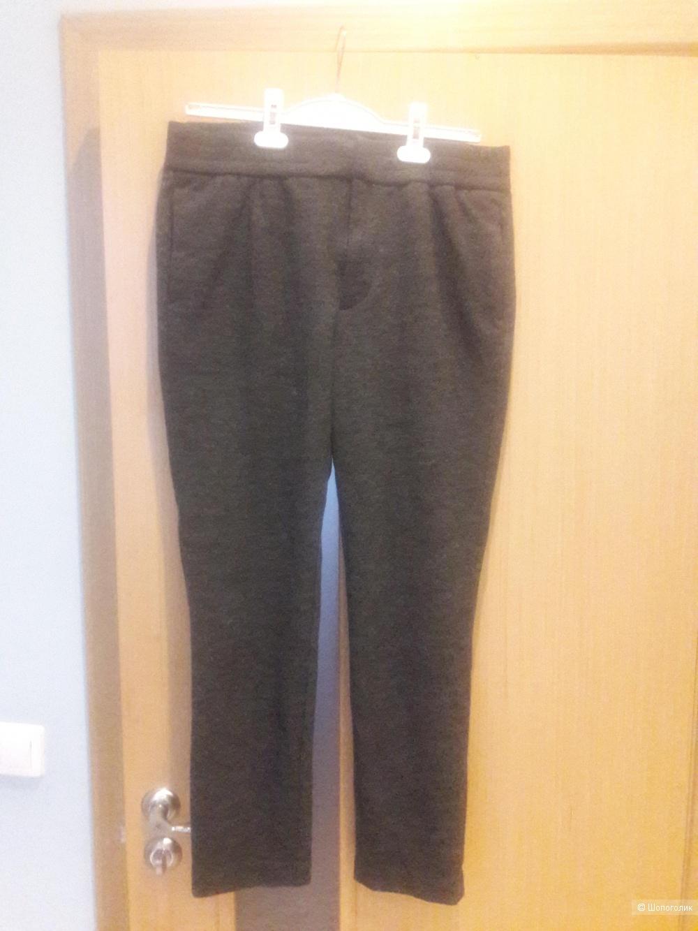 Трикотажные брюки с шерстью H&m размер 48-50