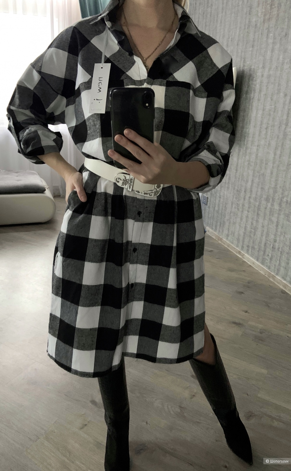 Платье-рубашка New J, oversize