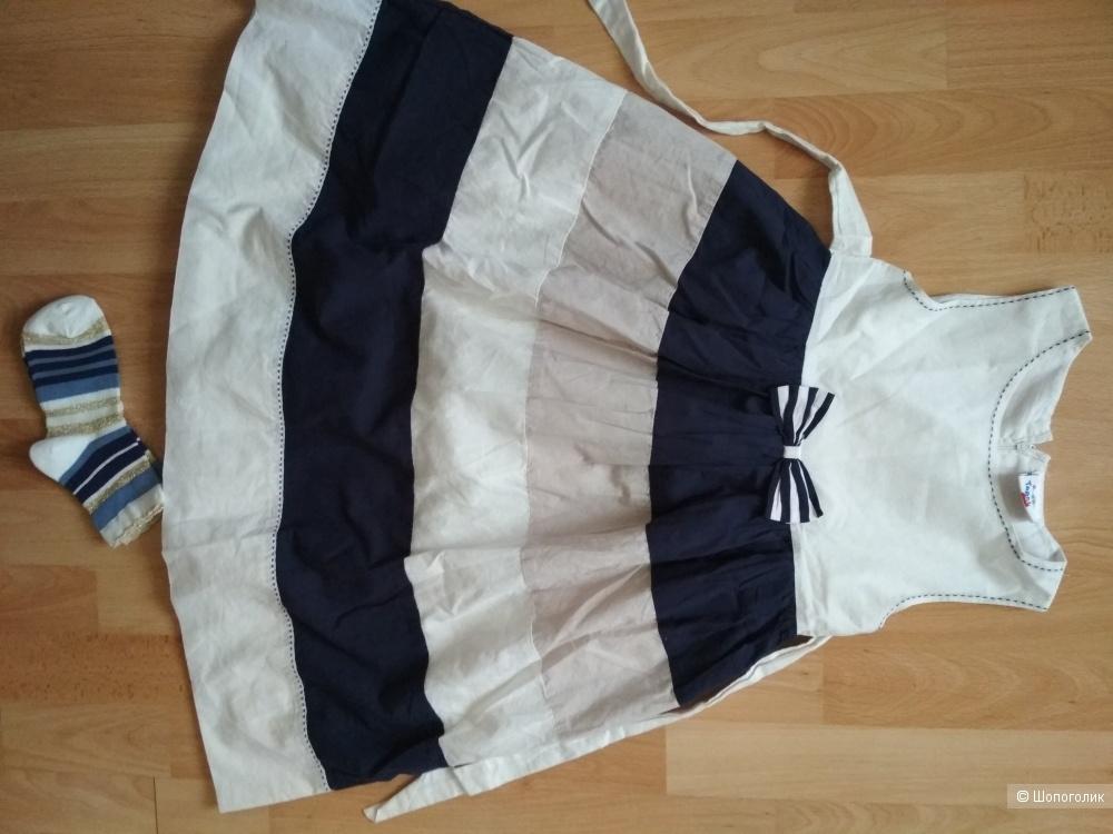 Сет платье Topolino +носки gymboree размер 7 лет