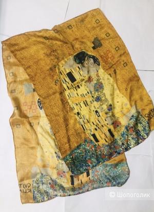 Шарф шелковый Gustav Klimp- размер 156х54 см