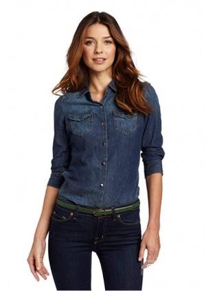 Джинсовая рубашка Calvin Klein размер XS - M