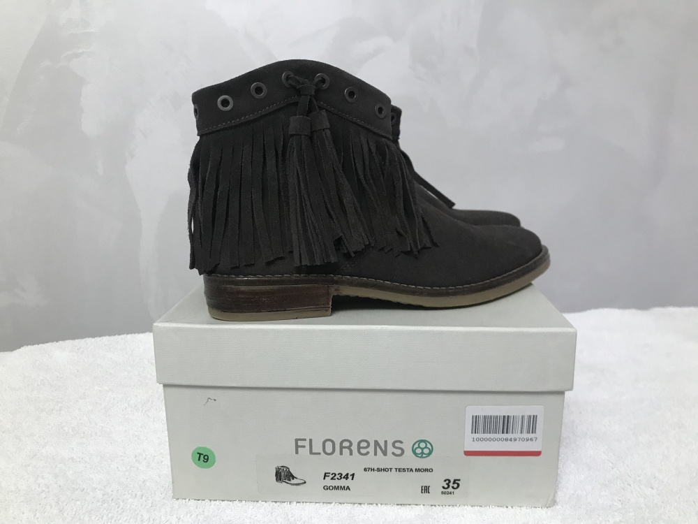 Кожаные полусапожки Florens  35 - 35,5 размер