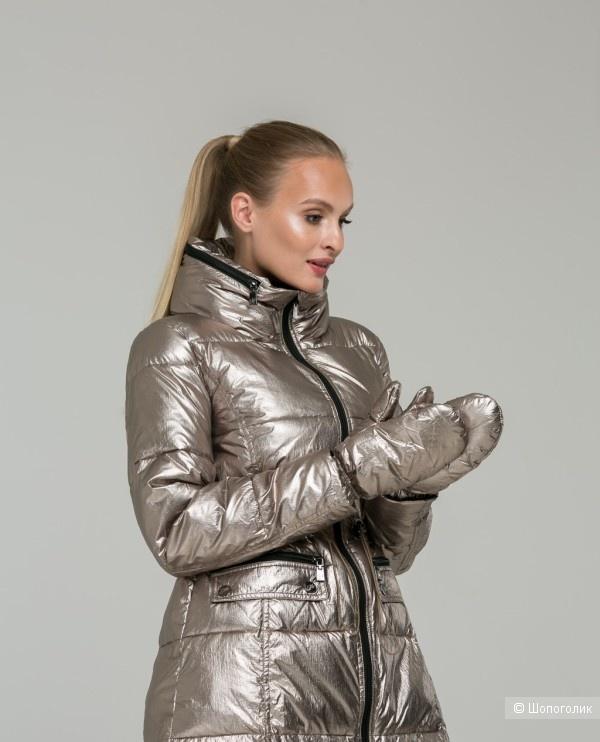 Пуховое пальто с варежками Odri, ит.40 на 42-44