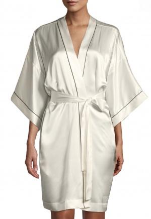 Шелковый халат-кимоно Neiman Marcus Intimates, размер L/XL, на S/M