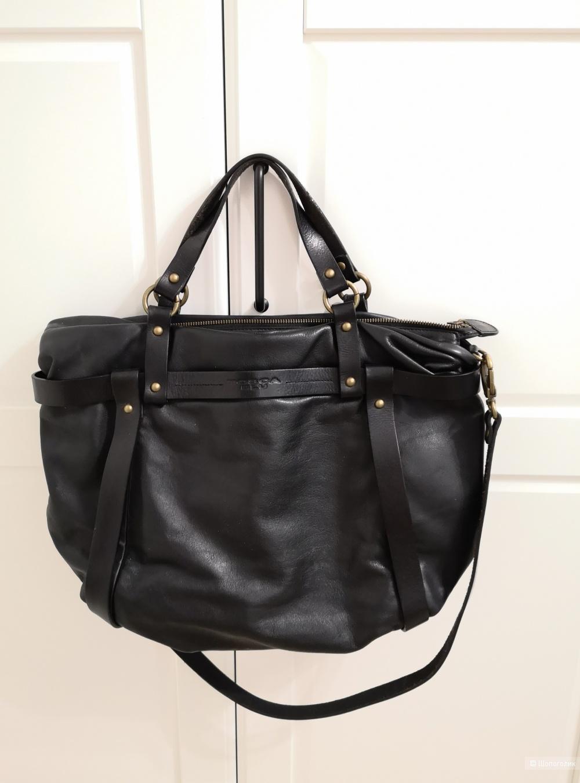 Кожаная сумка Tosca Blu