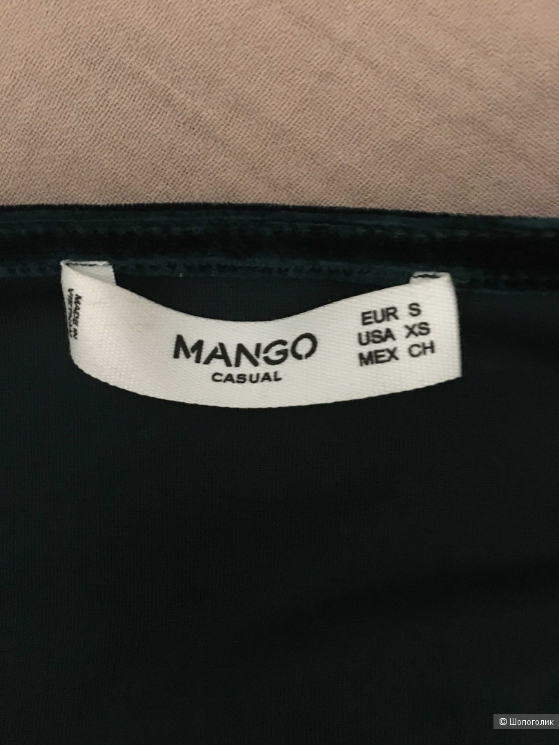Бархатное боди с узлом Mango S