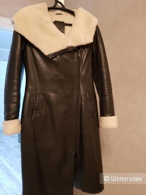 Кожаная дубленка (пальто на меху)