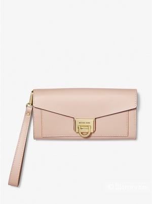 Клатч MICHAEL MICHAEL KORS. Manhattan Large Viola Leather.