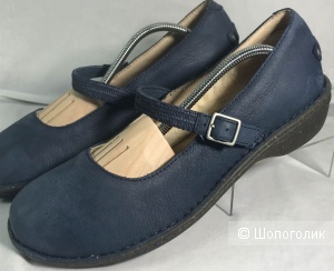 UGG Size US 11 EU 42  Blue Suede Mary Jane Flats