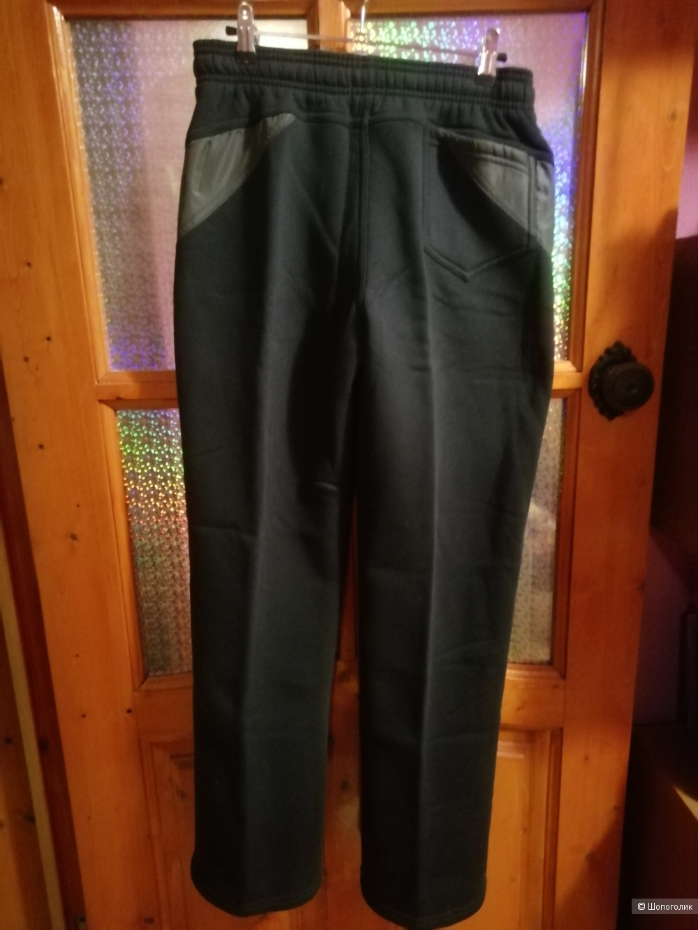 Утепленные спортивные брюки L (46-48) ,длинна 101см,по бедрам 48см.Покупали в специализированном спортивном магазине города.
