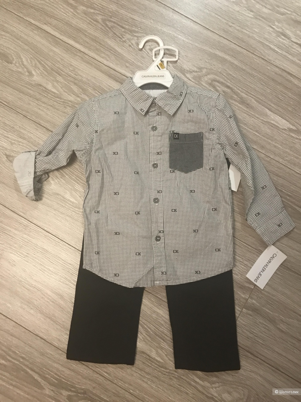 Брюки и рубашка Calvin Klein, размер 3 (98-104)